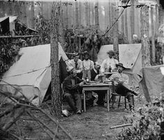 American civil war photograph of an army camp