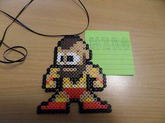 street fighter 2 zangief perler bead fuse pixel art