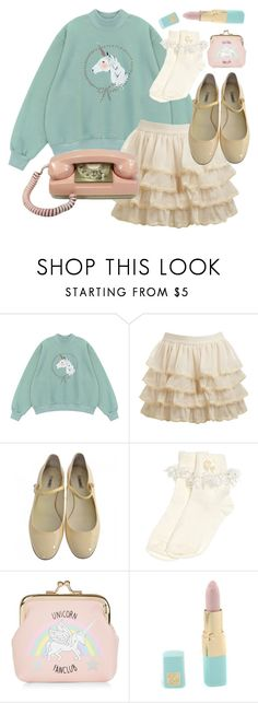 """unicorn fanclub"" by mystyc-habits ❤ liked on Polyvore featuring Chicnova Fashion, Wet Seal, Miu Miu, Monsoon, New Look and Estée Lauder"