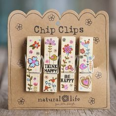 THINK HAPPY CHIP CLIPS by NATURAL LIFE $13