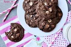 These fudgy cookies are actually quadruple chocolate!