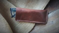 Personalised Leather Glasses CaseLeather Eye CaseSlim by Marcyniuk