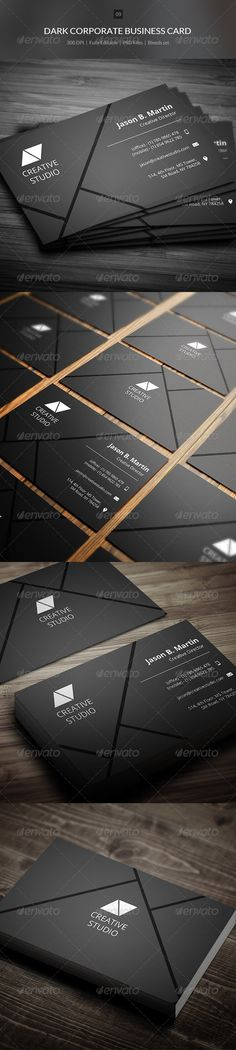 Dark Corporate Business Card - 09 - Corporate Business Cards