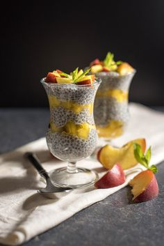 Peach Chia Pudding #