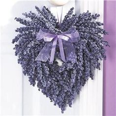 Lavender Heart Wreath w/lavender Ribbon~ Beautiful Country Home Decor! Lavender Heart Wreath w/lav Lavender Crafts, Lavender Wreath, Lavander, Purple Wreath, Lavender Ideas, Lavender Blue, Valentine Decorations, Flower Decorations, Valentine Wreath