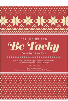 Ugly Sweater Party Invitation // cardstore.com