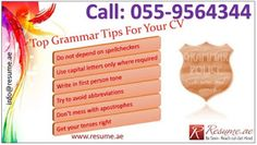 Resume.ae: Top Grammar Tips for your CV, follow us at http://...