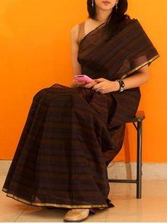 Brown elegant saree
