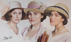 Downton Abbey Sisters Drawing by Live4ArtInLA.deviantart.com on @deviantART