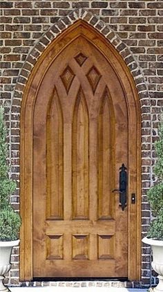 Country French Exterior Wood Entry Door - DbyD-2034 traditional front doors