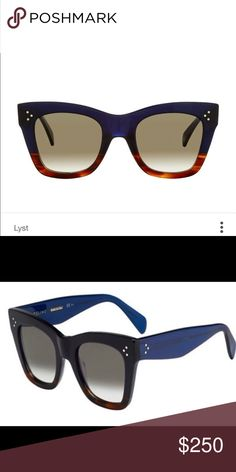 Brand New! Celine Sunglasses Popular sunglasses worn by many celebrities! Brand New! Color is dark navy at the top that goes gradient in tortoise. Case included It's Absolutely stunning! Celine Accessories Sunglasses