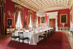 Chatsworth House dining room.