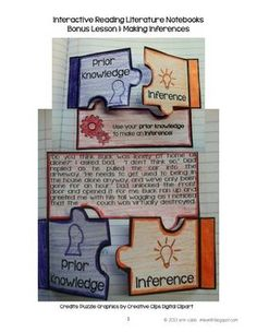 interactive reading notebooks | INTERACTIVE READING NOTEBOOKS ~ FREE BONUS LESSON! MAKING INFERENCES ...