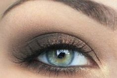 Dark bronze eye makeup