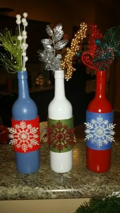 Botellas de vino decoradas con racimos de uvas mi - Botellas de vino decoradas ...