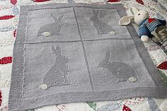 Ravelry: Four Bunnies Blanket pattern by Suzanne Strachan
