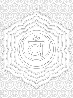chakra symbols coloring pages - photo#23