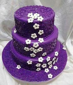 Purple tiered cake