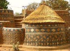 Earth Houses of Burkina Faso. Built by the Gurunsi people.