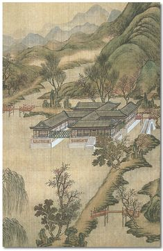 """The Yuanmingyuan were considered to be gardens, hence the term yuan. Each consisted of a number of complexes containing buildings of various types, artfully arranged in a """"natural"""" setting that was carefully designed with lakes and streams, hills, bridges, pathways and pagodas. Unlike European palaces, where the building was the central focus, in a Chinese paradise the buildings are linked together. Altogether there were 650 individual structures. The total area was over 800 acres."""