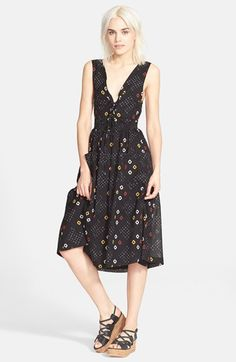 Free People 'Wildflowers' Sleeveless Midi Dress available at #Nordstrom