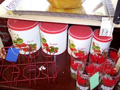 Strawberry Canisters by Cricket King, via Flickr