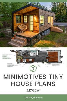 Read our review of tiny house plans from MiniMotives.com! These are downloadable plans for a tiny home that features a modern design, two separate points of entry, is single level, and built on a gooseneck trailer. The house is ideal for a single person or couple, who might have plans to raise a family. #tinyhouse #tinyhouseliving #tinyhousemovement #tinyhouseplan #tinyhousebuild Best Tiny House, Modern Tiny House, Tiny House Cabin, Tiny House Living, Tiny House Plans, Tiny House Design, Tiny House On Wheels, Tiny House Closet, Tiny House Family