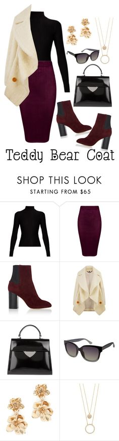 """""""Teddy Bear"""" by brunettediary ❤ liked on Polyvore featuring Acne Studios, rag & bone, Burberry, Coccinelle, Vince Camuto, Oscar de la Renta, Kate Spade and teddybearcoats"""