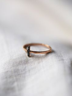 Zoe Chicco Diamond Bar Ring at Free People Clothing Boutique