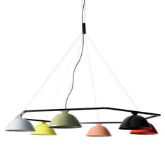 French designer Inga Sempé presents a collection of LED pendant lamps for Swedish lighting brand Wästberg