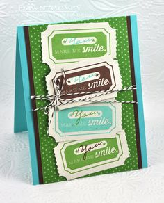 You Make Me Smile Card by Dawn McVey for Papertrey Ink (April 2013)