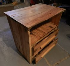 Pallets bedside table