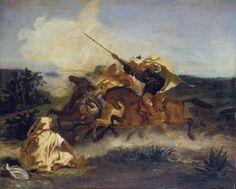 Eugène Delacroix - Fantasia arabe (1833)