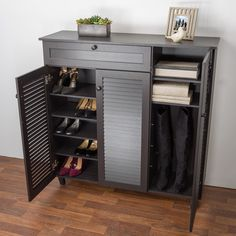 Compare Wholesale Interiors Baxton Studio Pocillo Wood Shoe Storage Cabinet prices online and save money. Find the lowest price on your favorite Wholesale Interiors Baxton Studio Pocillo Wood Shoe Storage Cabinet now. Wood Shoe Storage, Diy Shoe Rack, Wood Storage Cabinets, Diy Cabinets, Storage Shelves, Tall Cabinet Storage, Locker Storage, Shoe Cabinet Entryway, Diy Storage