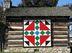 Quilt block at James White Fort in Knoxville, TN
