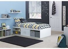 Single Cabin Bed White With Underbed Storage Unit Toys Books Bedroom Home NEW UK    eBay