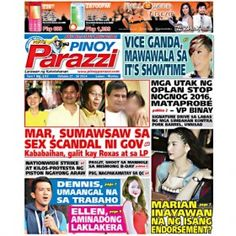 Pinoy Parazzi Vol 7 Issue 132 October 27 – 28, 2014 http://www.pinoyparazzi.com/pinoy-parazzi-vol-7-issue-132-october-27-28-2014/