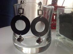 """Orecchini """"Circle"""" in argento brunito, by GIOBijoux, 35,00 € su misshobby.com"""