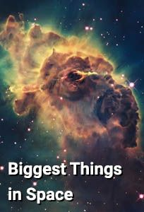 "Biggest Things in Space - Documentary. A look at the biggest things in the universe, such as the cosmic web which connects galaxies together along threads of dark matter or the Lyman-alpha blob which is a bubble containing countless galaxies. Also a look at super-galaxies, super massive black holes, ""radio lobes"" and the biggest void in space."