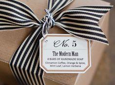 "No. 5 - ""The Modern Man"" - Natural Handmade Soap Gift Box for Guys. $19.00, via Etsy."