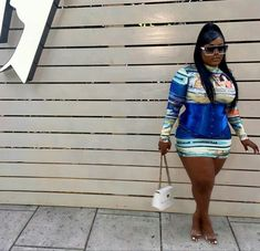 Thick Girls Outfits, Curvy Girl Outfits, Plus Size Outfits, Thick Girl Fashion, Curvy Women Fashion, Curvy Street Style, Plus Sise, Plus Size Fashionista, Cute Swag Outfits