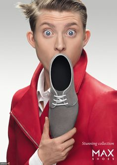 MAX Shoes: Stunning collection, by Jung von Matt/Limmat, Switzerland. Shoe Advertising, Advertising Campaign, Advertising Design, Marketing And Advertising, Funny Commercials, Funny Ads, Ads Creative, Creative Advertising, Good Advertisements