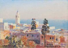 Le minaret à Sidi Bou Saïd von Alexandre Roubtzoff