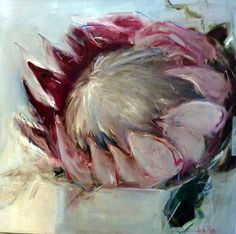 Protea painting by Nicole Pletts Protea Art, Protea Flower, South African Artists, Contemporary Abstract Art, Flower Art, Art Flowers, Beautiful Paintings, Art Oil, Painting Inspiration