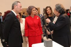 Queen Sofia attended the 25th anniversary of the Museum of Modern Art in Valencia, Spain, February 19, 2014