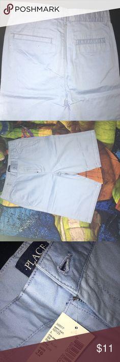 Sky blue shorts Boy solid woven shorts Color sky blue  Size: 16 slim Children's Place Bottoms Shorts