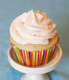 Gluten-Free Vanilla Cupcakes with Dairy-Free Buttercream