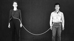 """ In Rope Piece,"" (July 4 1983 to July Hsieh invited fellow performance artist Linda Montano to tie herself to Hsieh for one year. Art Editor, The Spectator, New York Art, Conceptual Art, Installation Art, Art Installations, Contemporary Artists, North America, Art Gallery"