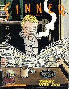 Cover of Sinner-Talkin' With Joe by Argentinian writer Carlos Sampayo and artist José Muñoz.