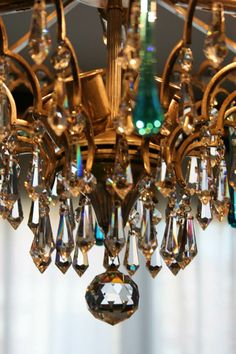 ❥ chandelier crystals~ love the refractive colors in real crystals.
